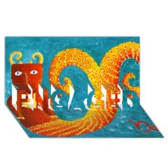 Capricorn Zodiac Sign ENGAGED 3D Greeting Card (8x4)