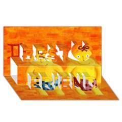 Gemini Zodiac Sign Best Friends 3d Greeting Card (8x4)