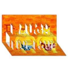 Gemini Zodiac Sign Laugh Live Love 3D Greeting Card (8x4)