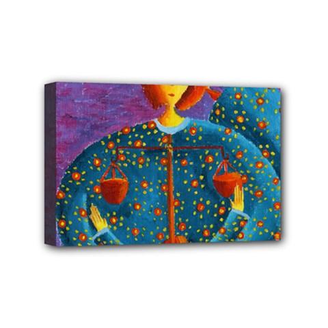 Libra Zodiac Sign Mini Canvas 6  x 4