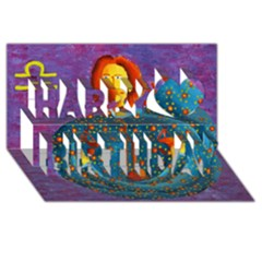 Libra Zodiac Sign Happy Birthday 3D Greeting Card (8x4)