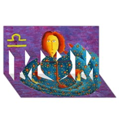 Libra Zodiac Sign MOM 3D Greeting Card (8x4)