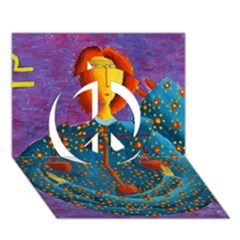 Libra Zodiac Sign Peace Sign 3d Greeting Card (7x5)