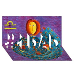 Libra Zodiac Sign #1 Dad 3d Greeting Card (8x4)