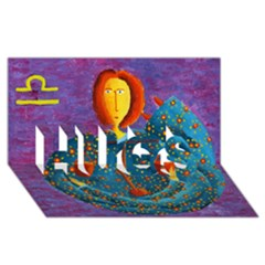 Libra Zodiac Sign HUGS 3D Greeting Card (8x4)