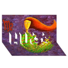Virgo Zodiac Sign HUGS 3D Greeting Card (8x4)