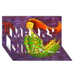 Virgo Zodiac Sign Merry Xmas 3D Greeting Card (8x4)