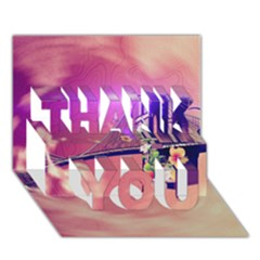 Vintage THANK YOU 3D Greeting Card (7x5)