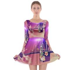 Vintage Long Sleeve Skater Dress