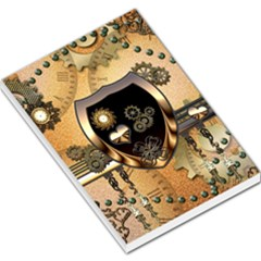 Steampunk, Shield With Hearts Large Memo Pads