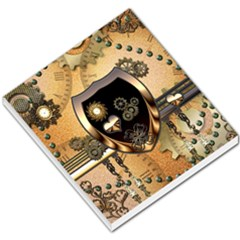 Steampunk, Shield With Hearts Small Memo Pads