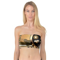Steampunk, Shield With Hearts Women s Bandeau Tops