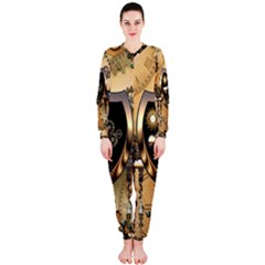 Steampunk, Shield With Hearts OnePiece Jumpsuit (Ladies)