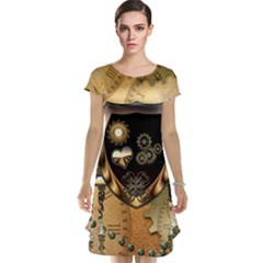 Steampunk, Shield With Hearts Cap Sleeve Nightdresses
