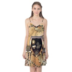 Steampunk, Shield With Hearts Camis Nightgown