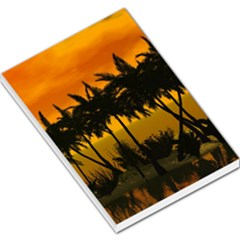Sunset Over The Beach Large Memo Pads