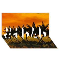Sunset Over The Beach #1 DAD 3D Greeting Card (8x4)