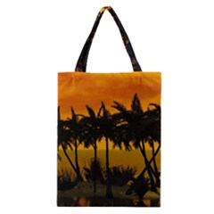 Sunset Over The Beach Classic Tote Bags