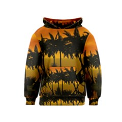 Sunset Over The Beach Kid s Pullover Hoodies