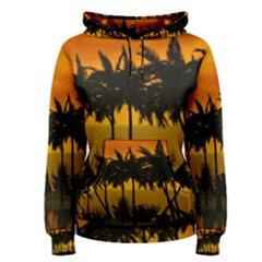 Sunset Over The Beach Women s Pullover Hoodies