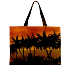 Sunset Over The Beach Zipper Tiny Tote Bags