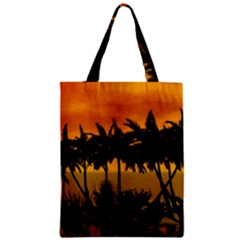 Sunset Over The Beach Zipper Classic Tote Bags