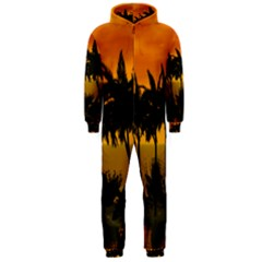 Sunset Over The Beach Hooded Jumpsuit (Men)