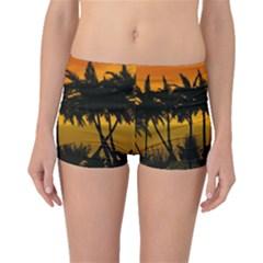 Sunset Over The Beach Boyleg Bikini Bottoms