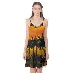 Sunset Over The Beach Camis Nightgown