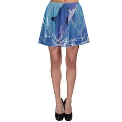 Cute Dolphin Jumping By A Circle Amde Of Water Skater Skirts