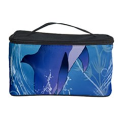 Cute Dolphin Jumping By A Circle Amde Of Water Cosmetic Storage Cases