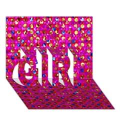 Polka Dot Sparkley Jewels 1 GIRL 3D Greeting Card (7x5)