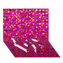 Polka Dot Sparkley Jewels 1 LOVE Bottom 3D Greeting Card (7x5)