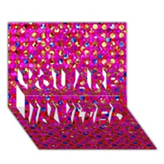 Polka Dot Sparkley Jewels 1 You Are Invited 3d Greeting Card (7x5)