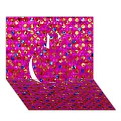 Polka Dot Sparkley Jewels 1 Apple 3d Greeting Card (7x5)