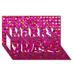 Polka Dot Sparkley Jewels 1 Merry Xmas 3D Greeting Card (8x4)