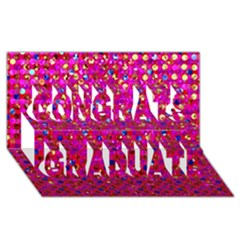 Polka Dot Sparkley Jewels 1 Congrats Graduate 3D Greeting Card (8x4)