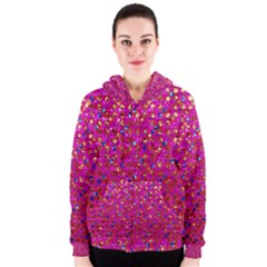 Polka Dot Sparkley Jewels 1 Women s Zipper Hoodies
