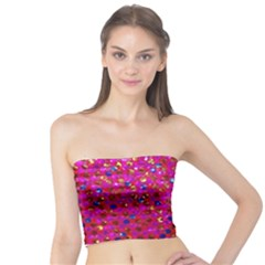 Polka Dot Sparkley Jewels 1 Women s Tube Tops