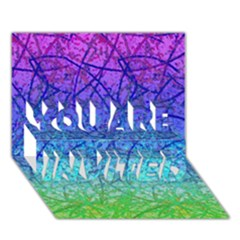 Grunge Art Abstract G57 YOU ARE INVITED 3D Greeting Card (7x5)
