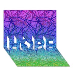 Grunge Art Abstract G57 HOPE 3D Greeting Card (7x5)