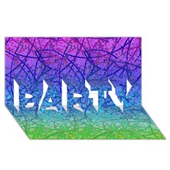 Grunge Art Abstract G57 PARTY 3D Greeting Card (8x4)