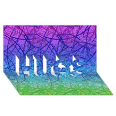 Grunge Art Abstract G57 Hugs 3d Greeting Card (8x4)