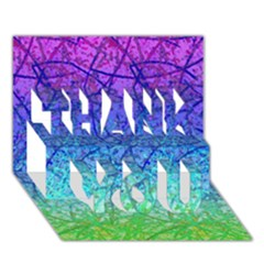 Grunge Art Abstract G57 THANK YOU 3D Greeting Card (7x5)