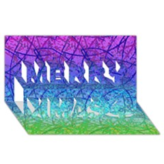 Grunge Art Abstract G57 Merry Xmas 3d Greeting Card (8x4)
