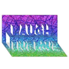 Grunge Art Abstract G57 Laugh Live Love 3D Greeting Card (8x4)