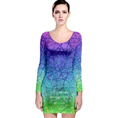 Grunge Art Abstract G57 Long Sleeve Bodycon Dresses