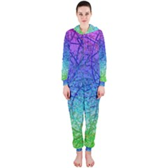 Grunge Art Abstract G57 Hooded Jumpsuit (ladies)