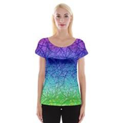 Grunge Art Abstract G57 Women s Cap Sleeve Top