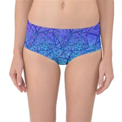 Grunge Art Abstract G57 Mid-Waist Bikini Bottoms